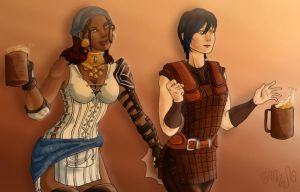 DA2 - Isabela and Hawke by SweetSnail