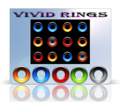 Vivid Colored Rings Start Orbs by Fiazi