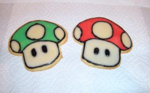Super Mario Sugar Cookies by Stephanefalies