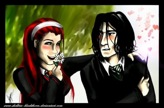 lily and severus by HiddenTreasury