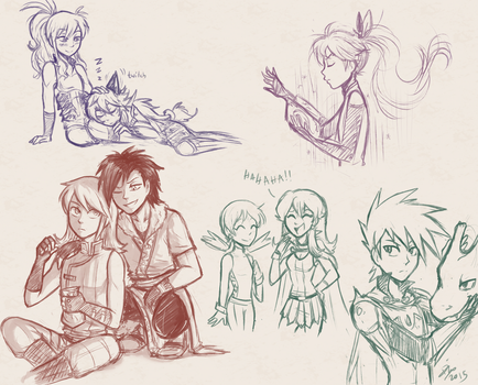 FE Pokespe Doodles by firehorse6