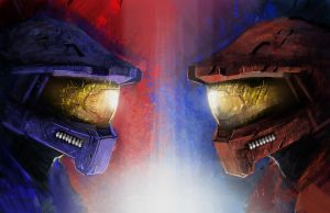 Redvsblue by SpartanChunny