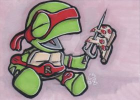 Little Raphael ACEO by CraigMichaelScott