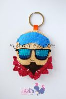Lee Sin League of Legends chibi felt keychain by Nyshandra