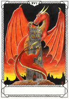 Tower - Dragon Tarot by Storm-Engineer