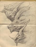 Sketchbook Dragons by NickDeSpain