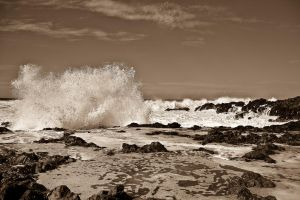 Raging sea sepia 2 by DostorJ