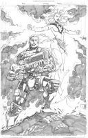 Cable and Phoenix by wrathofkhan