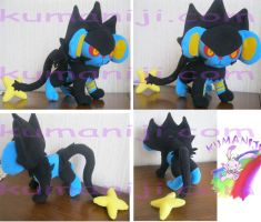LUXRAY POKEMON PLUSH by chocoloverx3