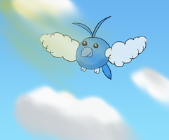 Swablu in the clouds by hllday