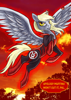 With blood and rage of crimson red... by GingerFoxy
