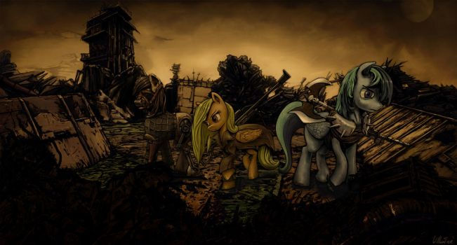 Commission: Life in the pit. by WillhemTier