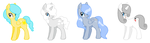 Themed Adopts: Weather Ponies (4/4 Open) by MichelleKyura