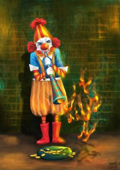 The Clown in the road by mamatrozi