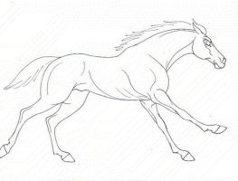 galloping racehorse animation by pookyhorse