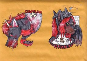 Rikki and Damian Badges by JustRach