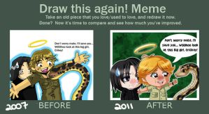 Before and After Meme SGA by Psy-CHO-Aoi