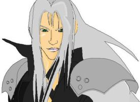 MS- Paint: Sephiroth WIP 3 by mel-lyks-cereal