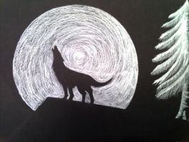 howling wolf sillouette by NoSoul13