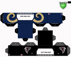 rams falcons helmets by 1madhatter