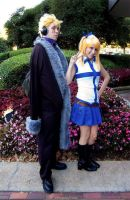 Laxus and Lucy by LinkInSpirit