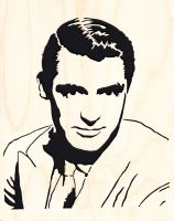 Cary Grant by smwoodcrafts