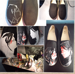 My Chemical Romance Shoe Progress Photo~ by TheDeviantSketcher