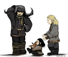 Bofur, Fili and Kili by Vera-Ist-44