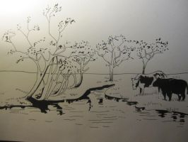 Landscape Drawing by lucyheart62902