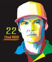 Motocross Fanart Chad Reed Portrait  by MadiazRoby