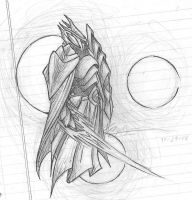 (2006-11-21) Floating Armor Sketch by PronouncedKnee