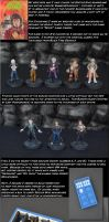 Doctor Who Miniatures with Box by Crafty-Jack