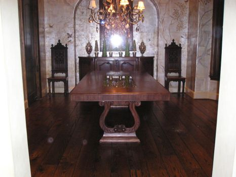 Carved walnut table by MitchMitton