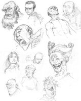 head sketches by RyanOttley