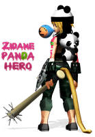 MMD ZIDANE TRIBAL PANDA HERO by FantasyYitan