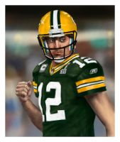 NUMBER 12 AARON RODGERS by guece