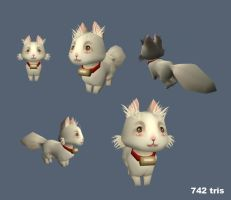 Fluffy--Low Poly Work by Palidoozy
