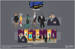 Sly 4 - Party Guests by Tigerhawk01