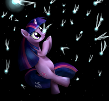 Twilight sparkle IN SPACE by CeleryPony