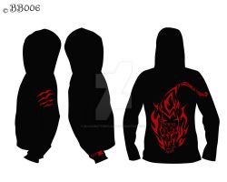 Tiger Hoodie - Black/Red by blackbutterfly006
