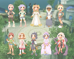 Rune Factory Tides of Destiny Doll Collection by cutepiku