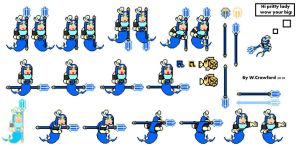 Mega Splash Woman Sprites by frgrgrsfgsgsfgggsfsf