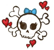 color of girly skull by Priscilla717