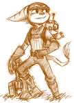ratchet n clank by sir-grimmington
