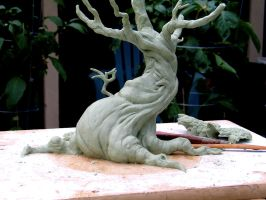 tree sculpture WIP front by RandyHand