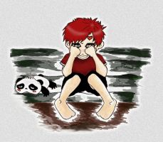 Gaara: I Lost My Shoes by Myra-A