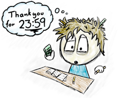 Thank you for 23:59 by Khrinx