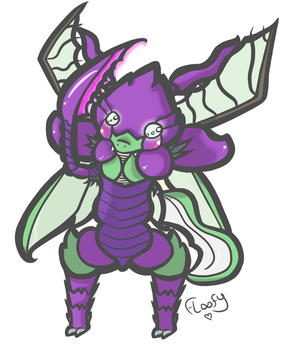 Kha'Sycther for NA Creeper (Commission) by FloofyFoxy