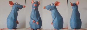 papermodell Remy Rat by WhiteRoo