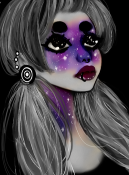 GALAXY FACE by Alexianeee